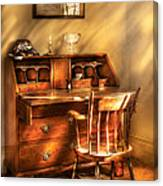 Writer - A Chair And A Desk Canvas Print