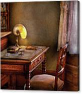 Writer - Desk Of An Inventor Canvas Print