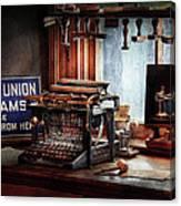Writer - Typewriter - The Aspiring Writer Canvas Print