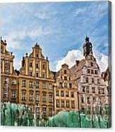 Wroclaw Fountain At The Town Square Canvas Print