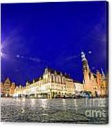 Wroclaw Poland Historical Market Square And The Town Hall Canvas Print
