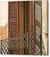 Wrong Balcony Romeo Canvas Print