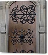 Wrought-iron Door Canvas Print
