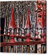 Wrought Iron Fence Spears Canvas Print