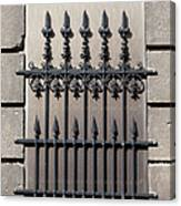 Wrought Iron Window Grille Canvas Print