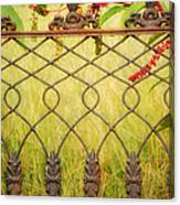 Wrought Iron With Red And Green Canvas Print