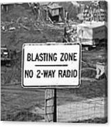 Wtc Blasting Sign Canvas Print