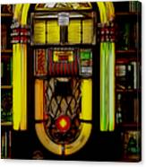 Wurlitzer 1946 Jukebox - Featured In Comfortable Art Group Canvas Print