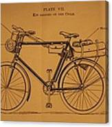 Ww1 Military Bicycle Canvas Print