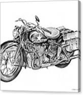 Ww2 Military Motorcycle Canvas Print