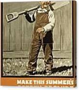 Wwi Farming C1915 Canvas Print