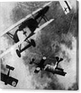Wwi German British Dogfight Canvas Print