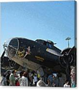 Wwii Memphis Bell B17 Canvas Print