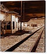 Rails West Canvas Print