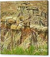 Wyoming Badlands Landscape Three Canvas Print