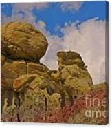 Wyoming Badlands Rock Detail Two Canvas Print