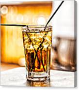 X Marks The Drink Canvas Print