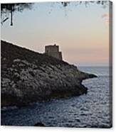 Xlendi At Sunset Canvas Print