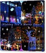 Xmas Greeting Collage Canvas Print