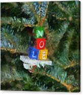 Xmas Noel Ornament Photo Art 01 Canvas Print