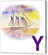 Y Art Alphabet For Kids Room Canvas Print