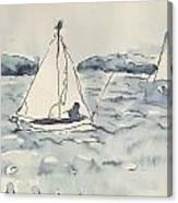 Yacht At Arcachon Canvas Print