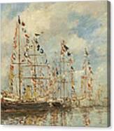 Yacht Basin At Trouville Deauville Canvas Print