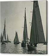 Yachting At Cowes�all They Wan - Is A Breeze Canvas Print