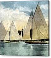 Yachting In Saugatuck Canvas Print