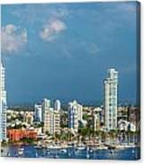 Yachts And Modern Cartagena Canvas Print