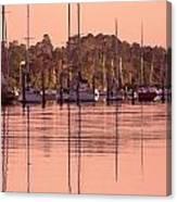 Yachts At Dawn Canvas Print