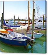 Yachts In A Port 4 Canvas Print