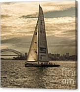 Yachts on Sydney Harbour Canvas Print