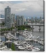 Vancouver From Yale Town Canvas Print