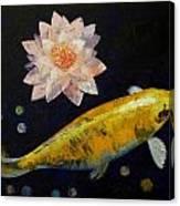 Yamabuki Ogon Koi Canvas Print