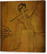 Yang Plays The Flute Canvas Print