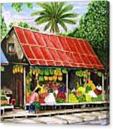 Yangon Fruitstand Canvas Print