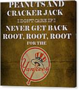 Yankees Peanuts And Cracker Jack  Canvas Print