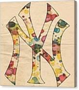 Yankees Vintage Art Canvas Print