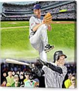 Yankees Vs Indians Canvas Print