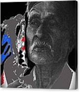 Yaqui Pascola Dancer Smoking Cigarette New Pascua Arizona 1969-2013 Canvas Print