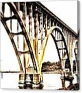Yaquina Bay Bridge - Series G Canvas Print