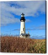 Yaquina Bay Lighthouse In Oregon Canvas Print