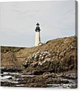 Yaquina Head Lighthouse From The Beach Canvas Print