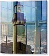 Yaquina Head Lighthouse Mirage  Canvas Print