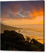 Yaquina Head Lighthouse Sunset. Canvas Print