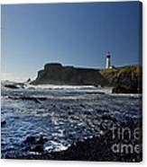 Yaquina Lighthouse And Beach No 1 Canvas Print