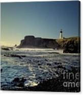 Yaquina Lighthouse And Beach No 2 Canvas Print