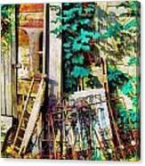 Yard Sale Antiques - Horizontal Canvas Print