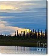 Yarger Lake Sunset Canvas Print